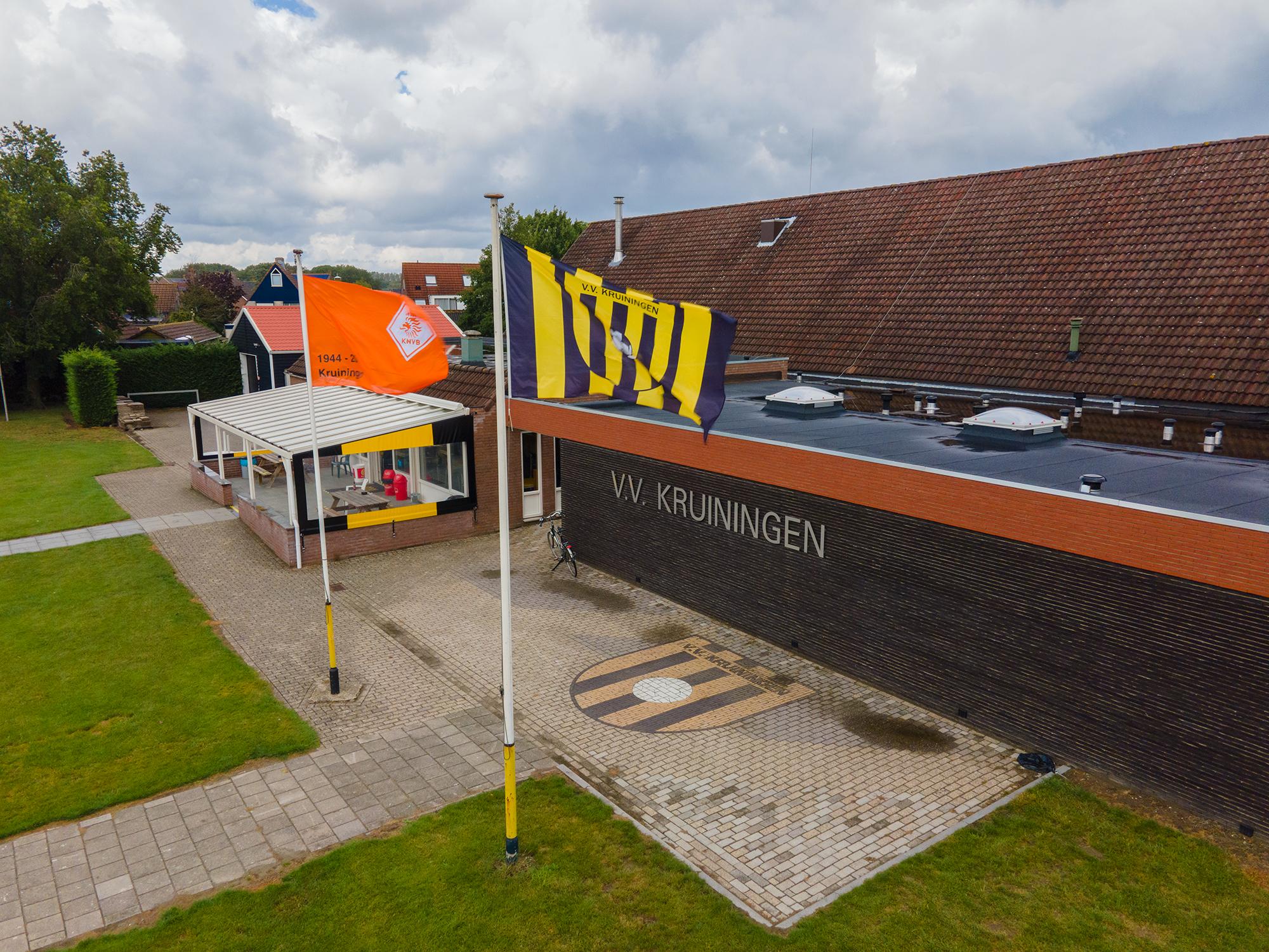 De accomodaties van voetbal vereniging Kruiningen