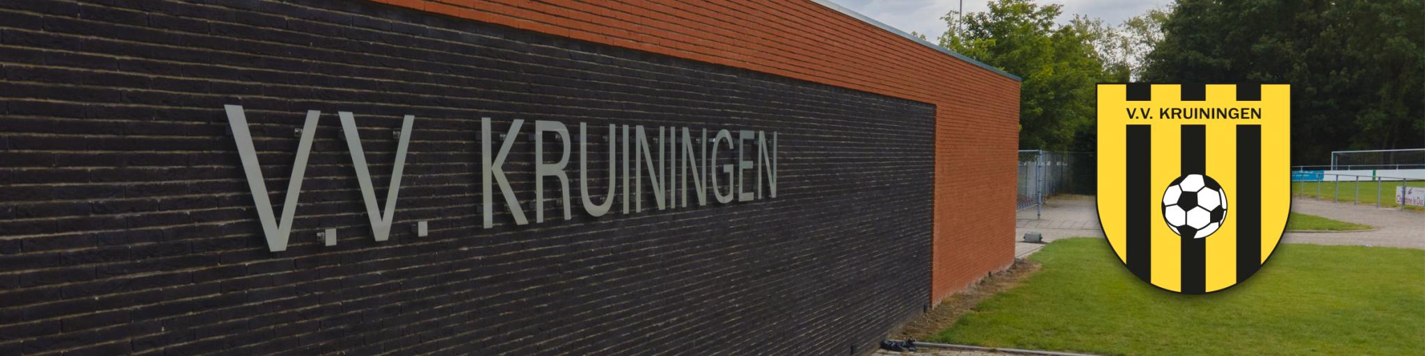 De nieuwe kleedkamers van voetbal vereniging Kruiningen