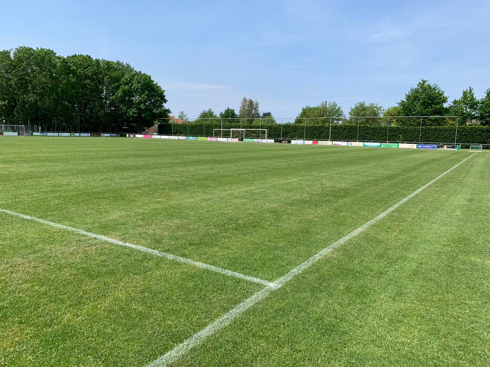 Het veld ligt klaar voor een nieuw seizoen